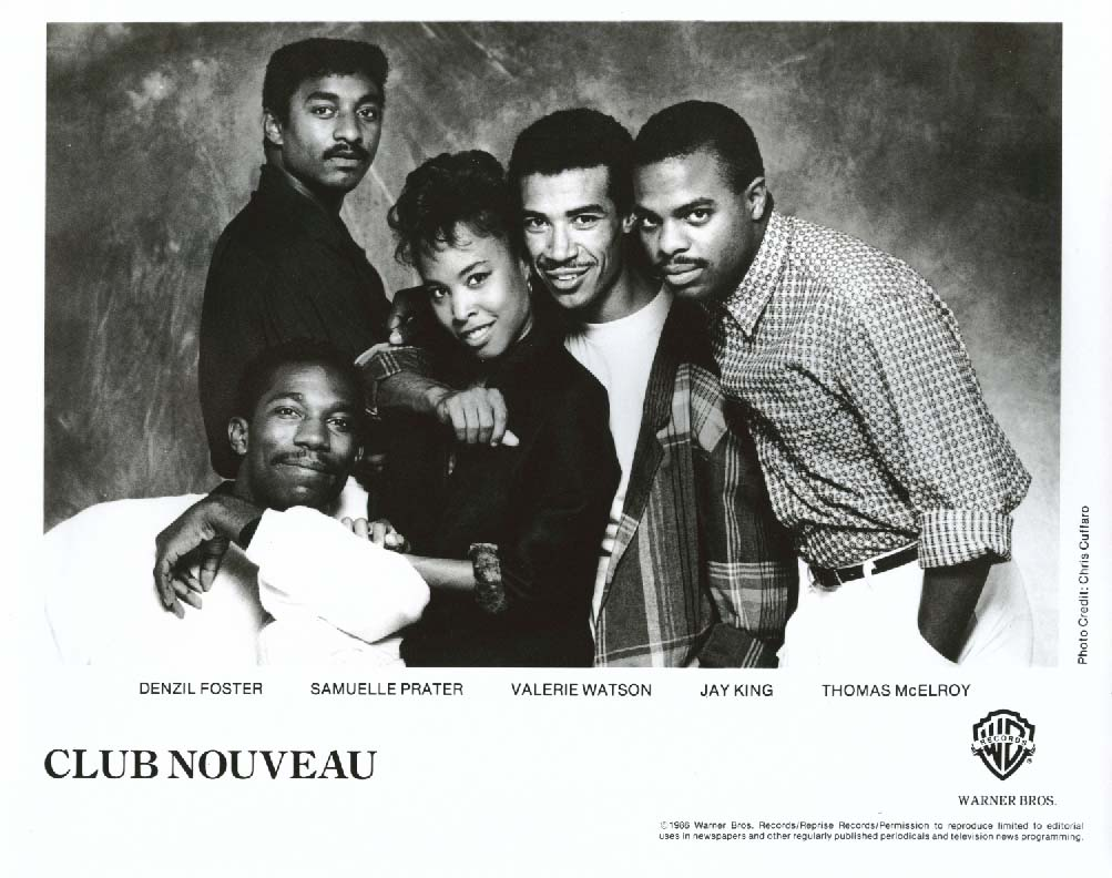 Club Nouveau 8x10 & Warner Bros press release 1986