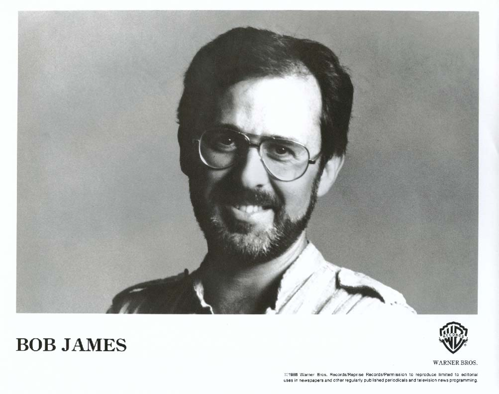 Bob James 8x10 & Warner Bros press release 1986
