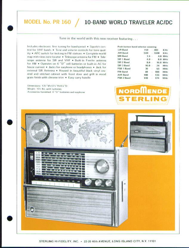 Nordmende PR-155 10-band World Traveler sell sheet 1960s