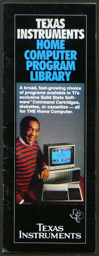 Texas Instruments Computer Program Catalog 1982 Cosby