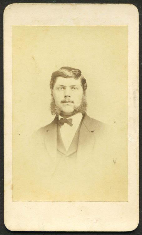 Big sideburns & mustache CDVJ L Judd: Litchfield CT