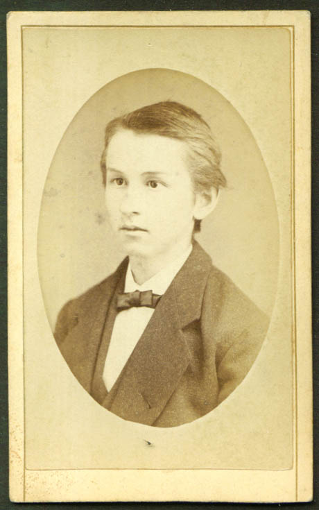Fair-skinned youth in suit CDV T M V Doughty Winsted CT