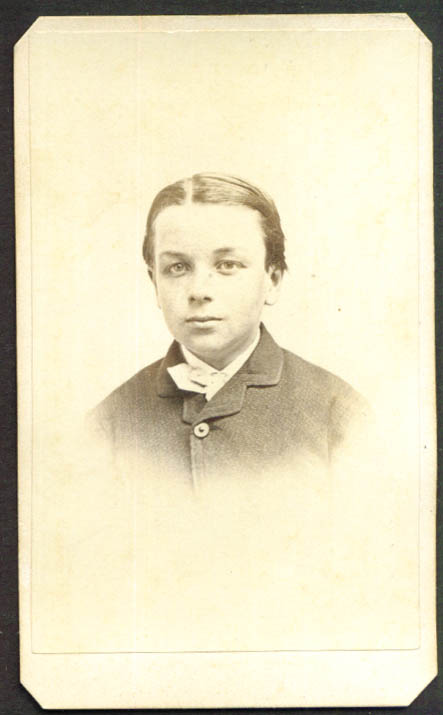 Soft-faced youth CDV Black & Case Boston & Newport RI