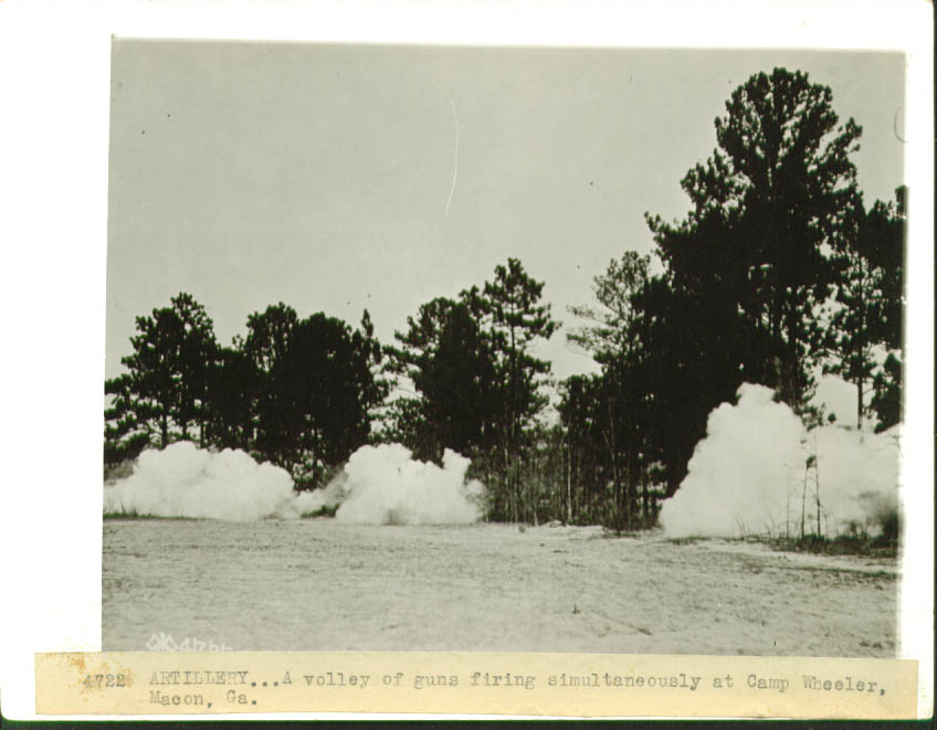 Artillery Volley Camp Wheeler Macon GA World War I pic