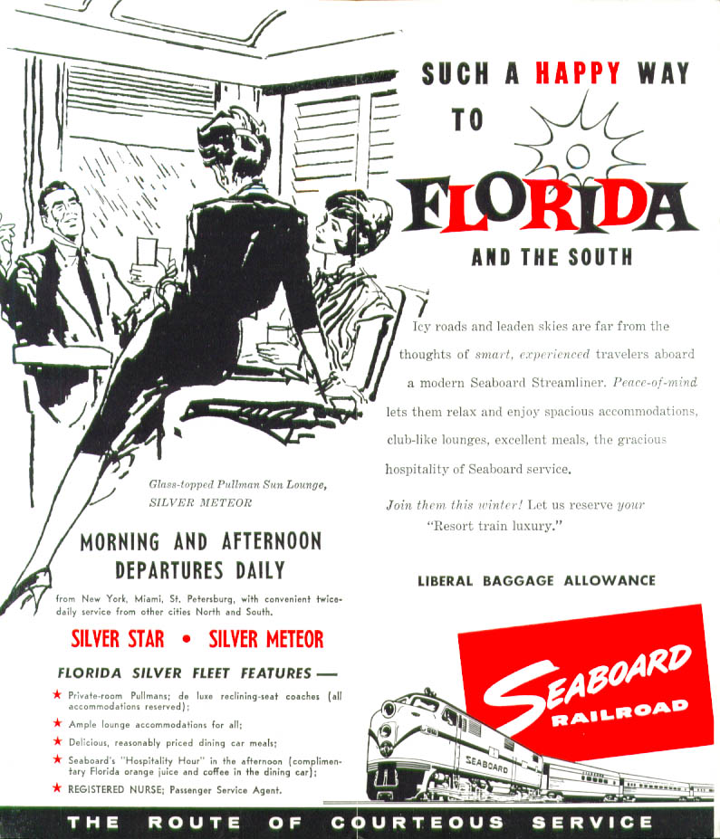 Image for Seaboard Railroad Condensed Time Tables 12/16/1961