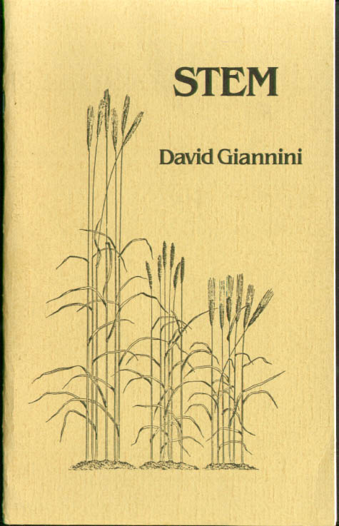 David Giannini: Stem: White Pine Press + SIGNED notes