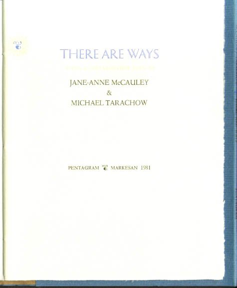 McCauley & Tarachow: There Are Ways 1/181 SIGNED