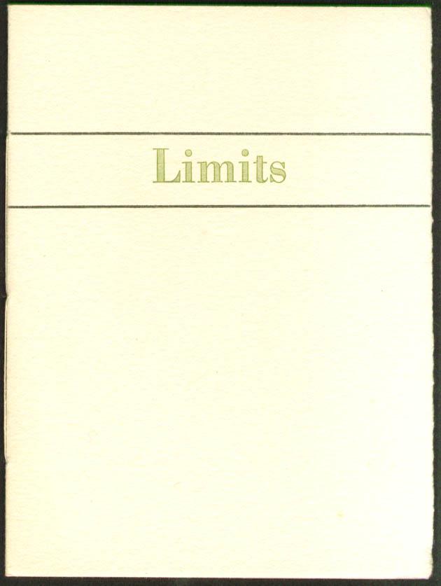 Robie Liscomb: Limits: Pentagram Press Markesan WI 1/175
