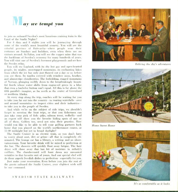 Image for Swedish State Railways Land Cruises brochure 1954