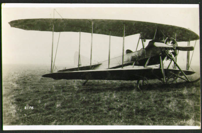 Image for Handley-Page biplane photograph Great Britain 1913