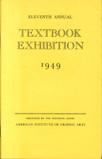 AIGA 11th Annual textbook Exhibition 1949 catalog