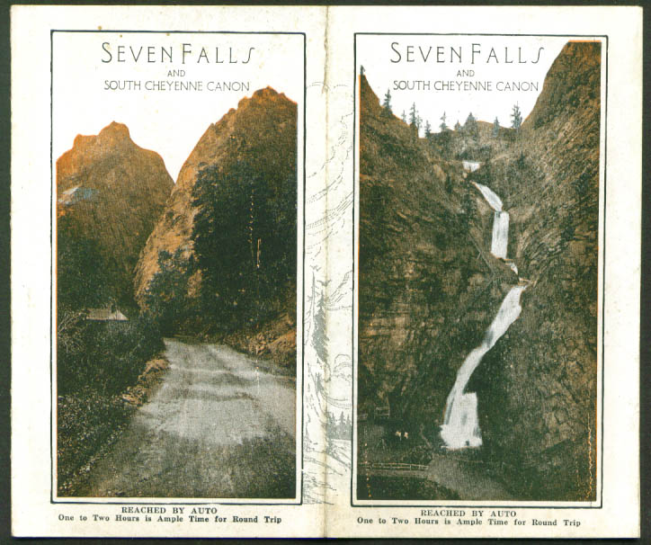 Seven Falls South Cheyenne Canon CO Auto Folder 1910s