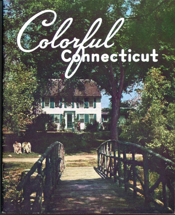 Colorful Connecticut tourist booklet 1948