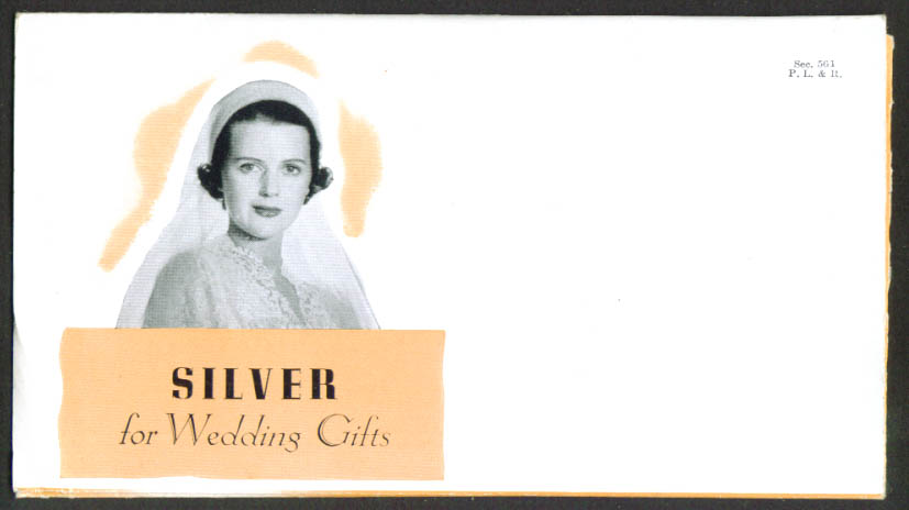 Reed & Barton Silver for Wedding Gifts folder 1940s