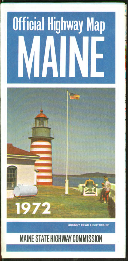 State of Maine Official State Highway Commission Road Map 1972