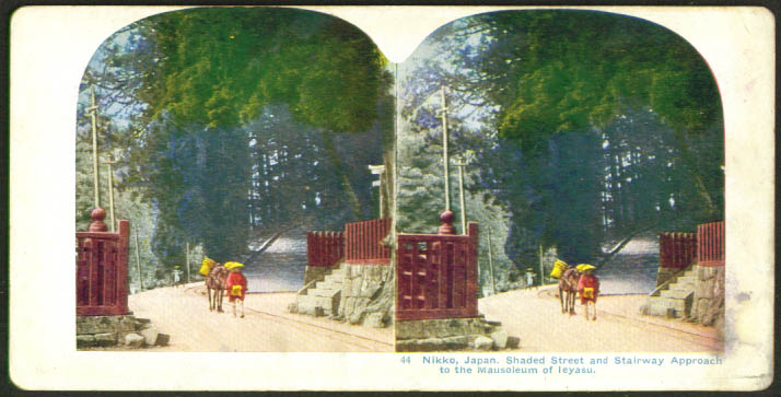 Mausoleum of Ieyasu Nikko Japan stereoview 1900s
