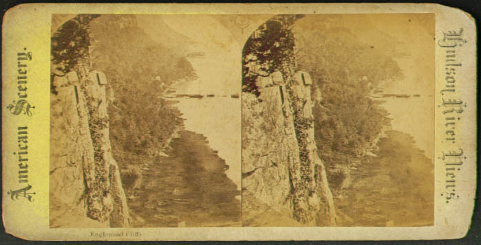 Englewood Cliffs Hudson River NY stereoview 1870s?