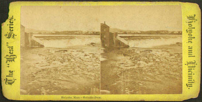 Holyoke Dam Holyoke MA Miller & Best stereoview 1899
