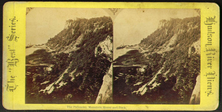 Palisades Mountain House & Dock NY stereoview 187?