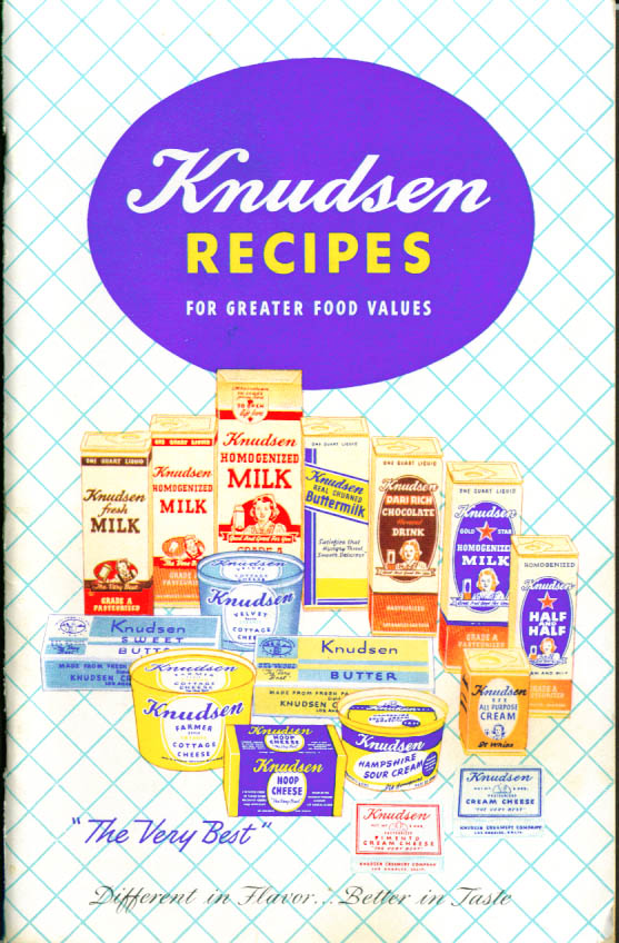 Knudsen Dairy Recipe Booklet 1950s California
