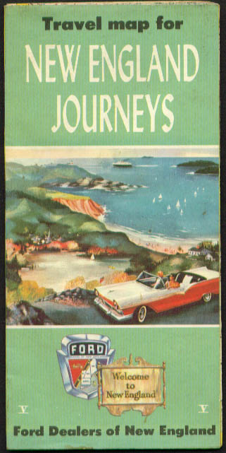 New England Ford Dealers Journeys Road Map 1957