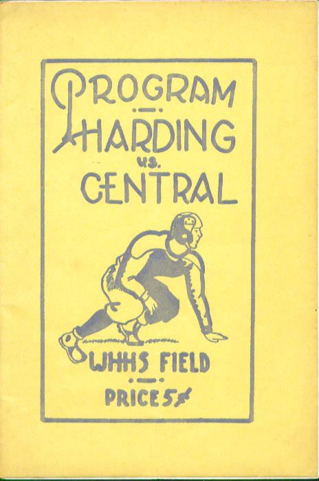 Image for Warren Harding Bridgeport Central Football Program 1937