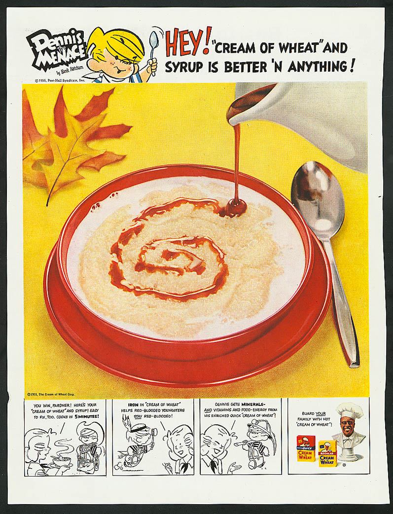 Image for Dennis the Menace for Cream of Wheat cereal ad 1955