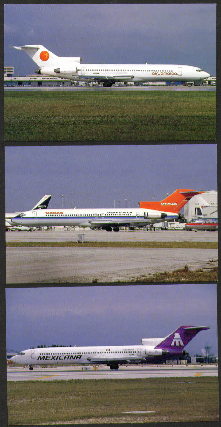 Image for Boeing 727 postcard group Air Jamaica Mexicana Viasa