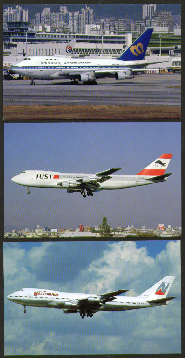 Image for Boeing 747 postcard group Nationair Mandarin JUST