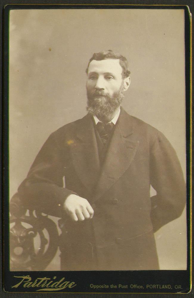 Full-bearded man cabinet card Partridge: Portland OR