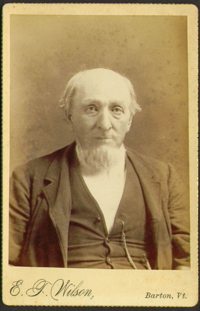 John G Martin West Glover cabinet card Wilson Barton VT