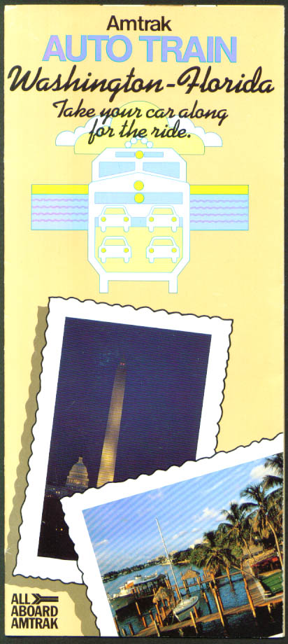 Amtrak Auto Train Washington-Florida folder 1984