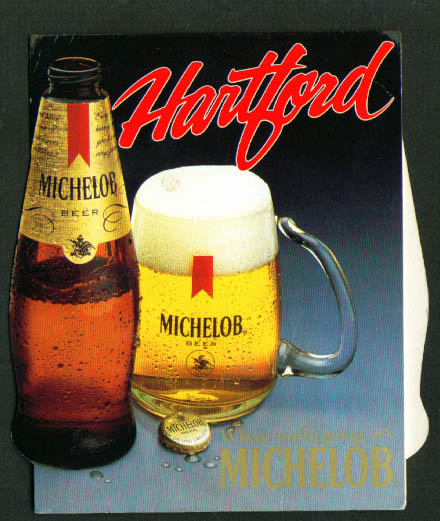 Hartford CT Michelob Beer tent card 1985
