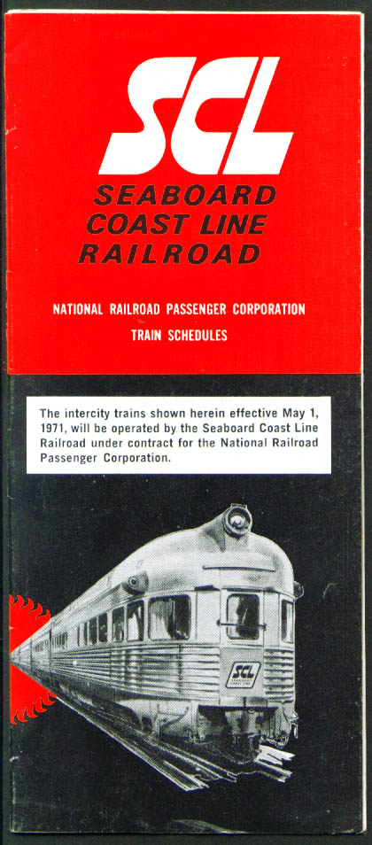 Image for Seaboard Coast Line Railroad Timetables 5/1/1971
