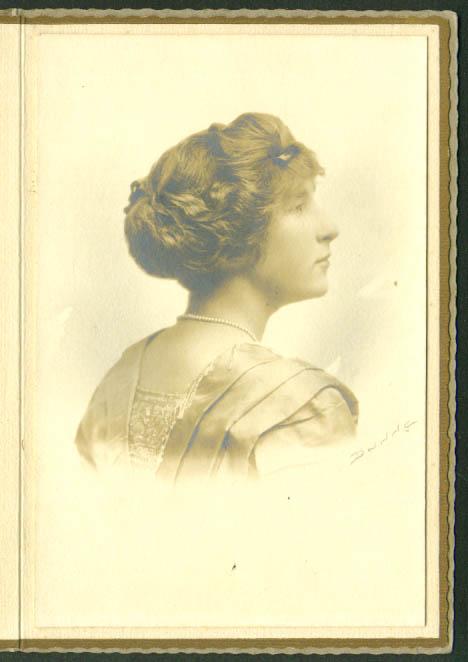 Ruth Lovelannd portrait card by Dunne: Hartford CT