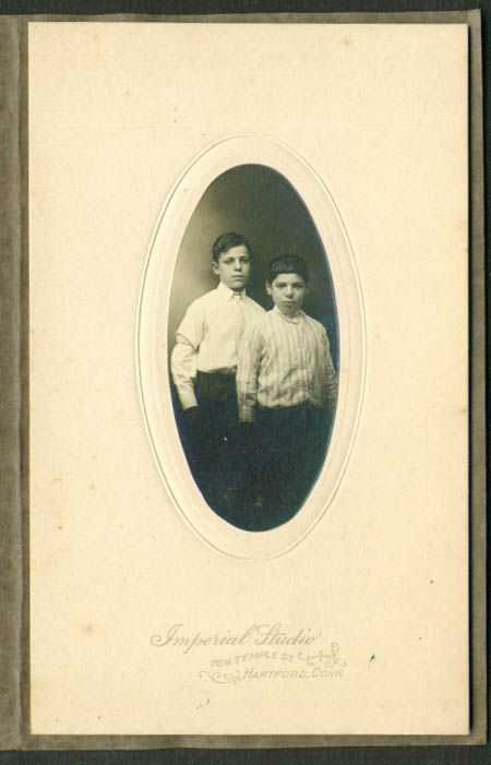 Two boys brothers? Photo Imperial Studio Hartford CT