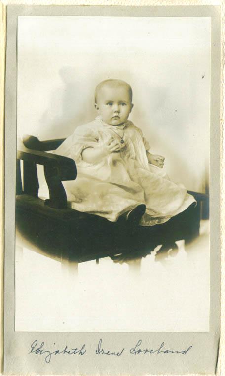 Baby Elizabeth Irene Loveland photo Johnson Hartford CT