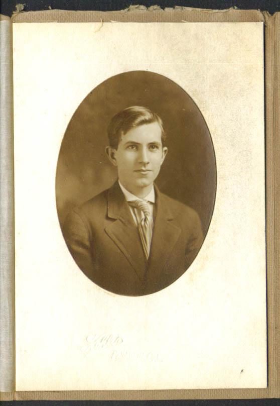 Young Mr Rinehart Pasadena High photo 1909 by Hohlar