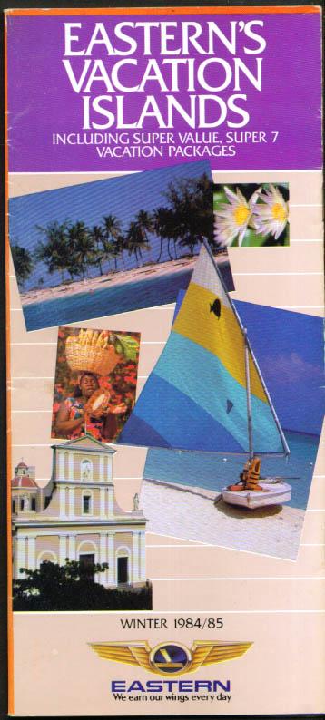 Eastern Air Lines Vacation Islands brochure Winter 1984-1985