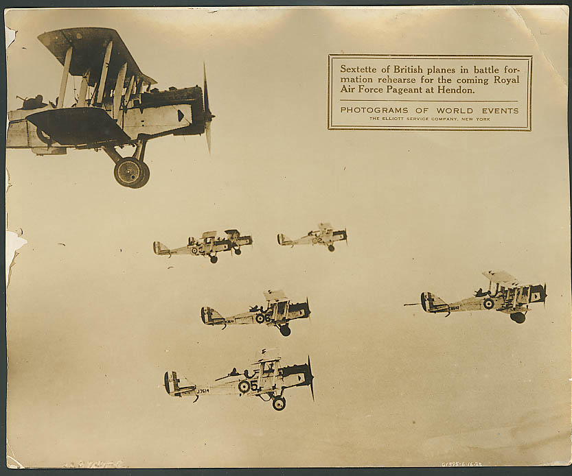 British fighters Royal Air Force Pageant Photogram 1925