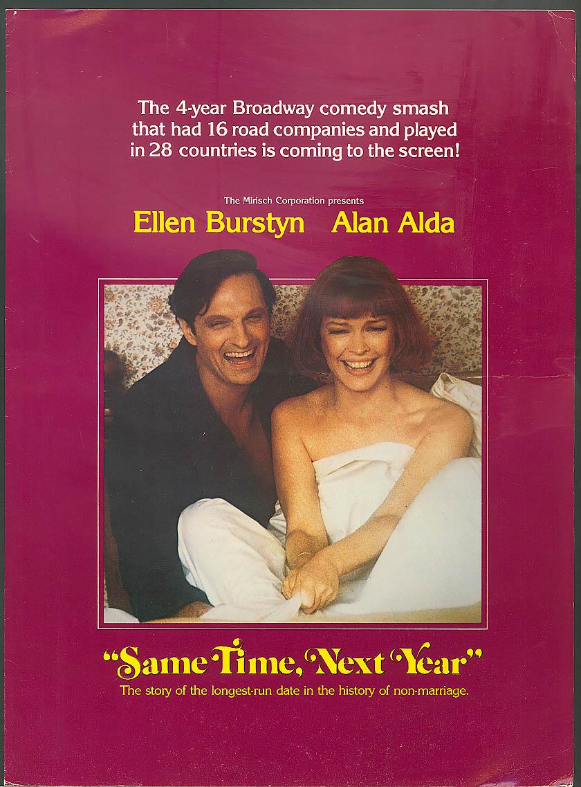 Same Time Next Year Alan Alda Variety insert 1979