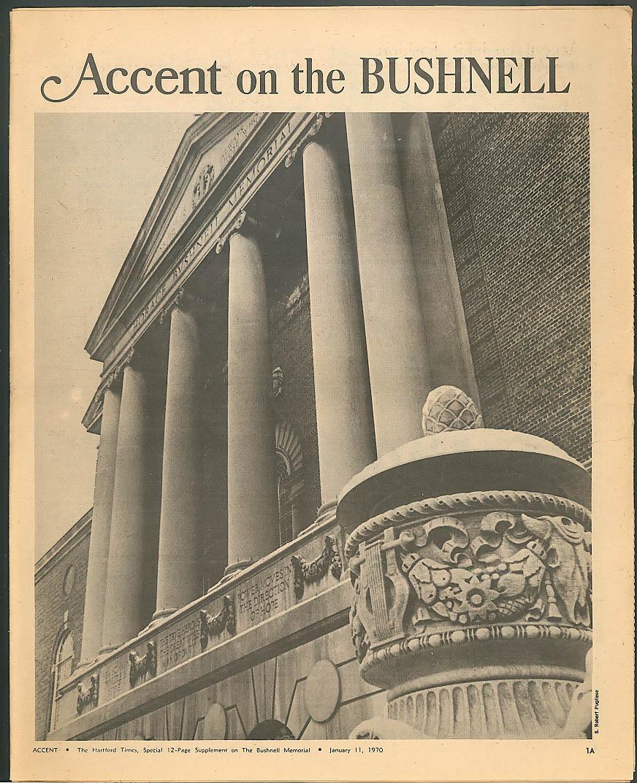 Bushnell Memorial Hartford 40th Anniversary Hartford Times 1970 CT