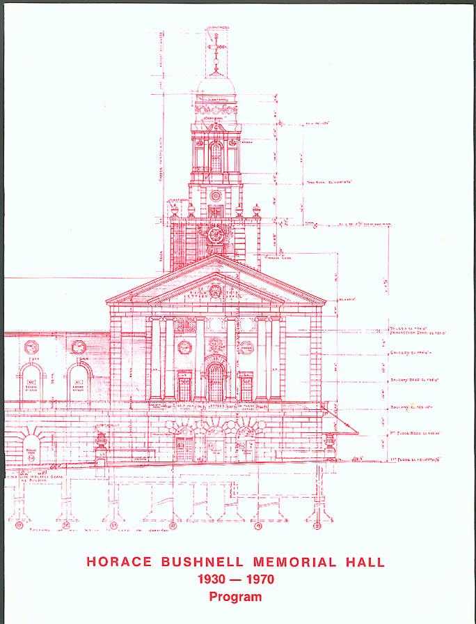 Bushnell Memorial 40th Anniversary Program 1970