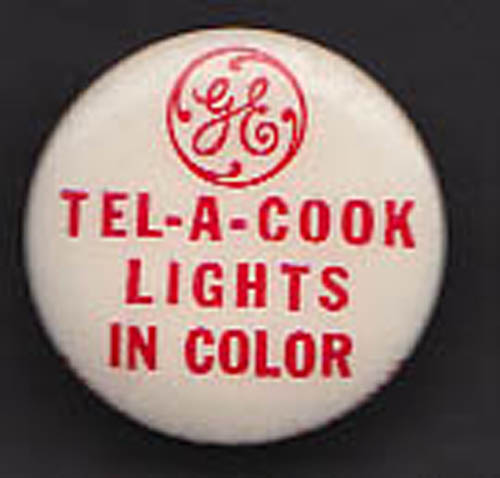 General Electric Tel-A-Cook Lights in Color button 1940s
