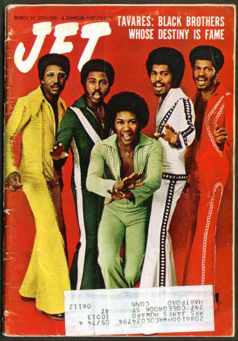 JET The Tavares; Bill Cosby Tennis 3/14 1974
