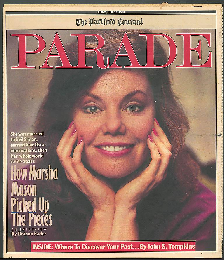 PARADE Marsha Mason Phil Donahue Mormon Family Research Library 6/19 1988