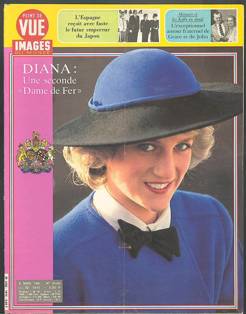 POINT DE VUE Images du Monde Princess Diana Grace John Kelly 3/8 1985