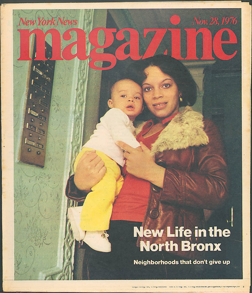 NEW YORK NEWS MAGAZINE Jane Fonda North Bronx sustains 11/28 1976