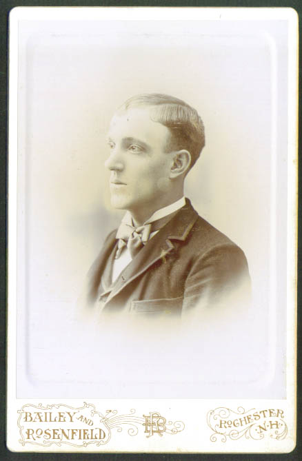 Fair man cabinet card Bailey & Rosenfeld Rochester NH