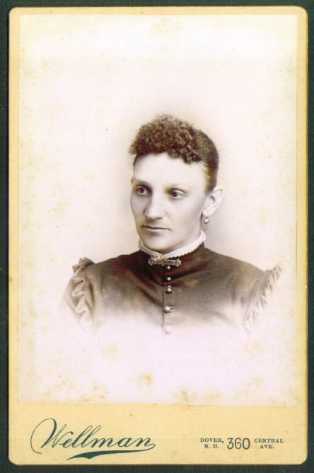 Lilian Keniston cabinet card by Wellman Dover NH